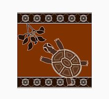 An illustration based on aboriginal style of dot painting depicting turtle Unisex T-Shirt