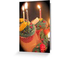 Lego Birthday Cupcakes Greeting Card