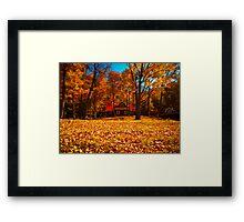 Fall Glory ~ Isolated Cottage Enveloped in Orange Foliage Framed Print