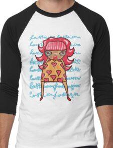 Red Headed Girly Girl - by Beatrice Ajayi Men's Baseball ¾ T-Shirt