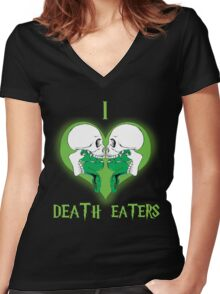 I Heart Death Eaters Women's Fitted V-Neck T-Shirt