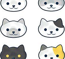 Neko Atsume Cat Stickers by Roonienoonie