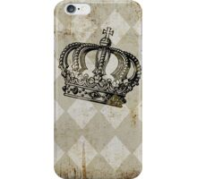 Vintage Distressed Grunge Crown iPhone Case/Skin