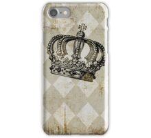 Vintage Distressed Grunge Crown iPhone Case/Skin