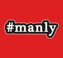 Manly - Hashtag - Black & White Kids Tee