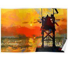 Sunset on Atlantic Ocean Poster