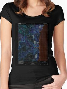 USGS TOPO Map Guam Talofofo 462411 2000 24000 Inverted Women's Fitted Scoop T-Shirt