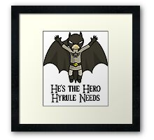 The Dark Knight of Time Framed Print