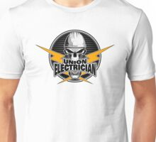 Union Electrician: Skull and Thunderbolts Unisex T-Shirt