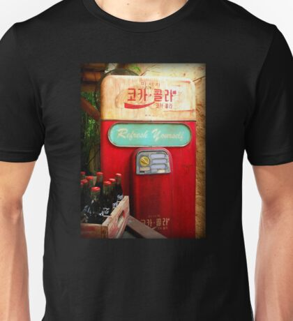 Vintage Korean Coca Cola Vending Machine Unisex T-Shirt