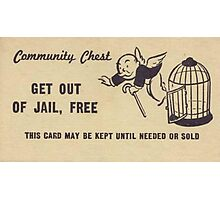 "Monopoly ""Get Out of Jail"" Photographic Print"