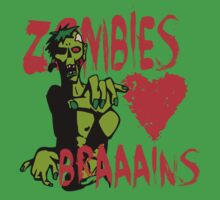 Zombies Heart Braaains! by Alibarbarella