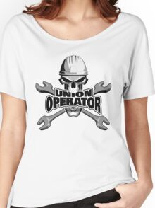 Union Operator: Skull and Wrenches Women's Relaxed Fit T-Shirt