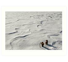 Winter Hike Art Print