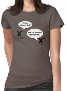 Maths - Do you believe in God? Womens Fitted T-Shirt