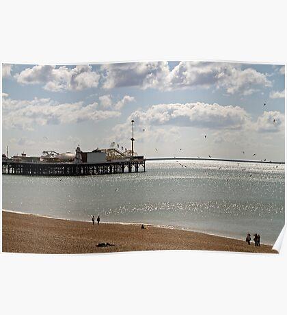 Brighton Pier in East Sussex Poster