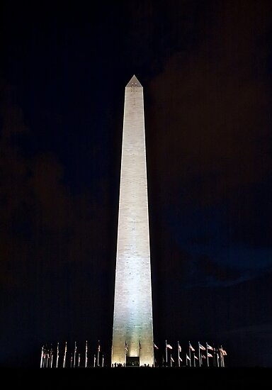 Washington Monument @ Night by Dan Phelps