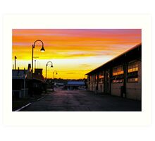 Twilight at the Fairgrounds Art Print