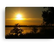 Onondaga Lake Sunset Canvas Print