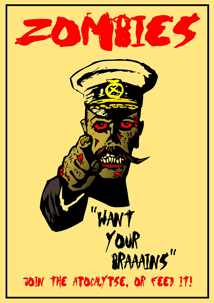 Zombie Recruitment Poster by Alibarbarella