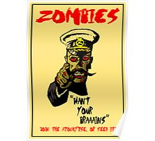 Zombie Recruitment Poster Poster
