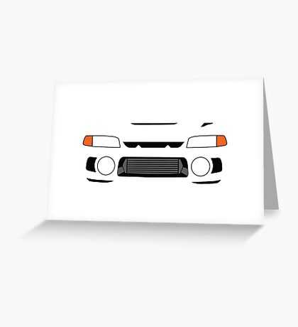 Evo 4 simple front end design Greeting Card