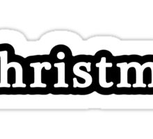 Christmas - Hashtag - Black & White Sticker