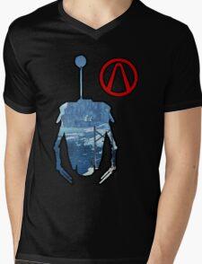 Claptrap and Vault - Borderlands 2 Mens V-Neck T-Shirt