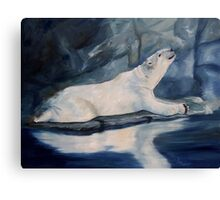 Praying Polar Bear Original Oil Painting Canvas Print