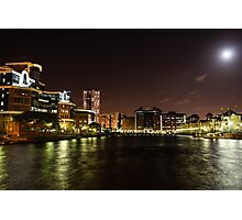 Salford Quays by Night Photographic Print