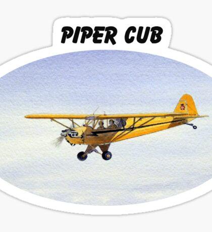 Piper J-3 Cub Sticker
