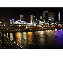 MediaCityUK by Night Photographic Print