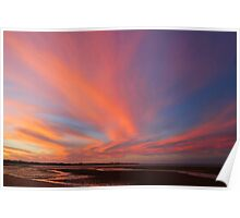 Sunset reflections at Hervey Bay Poster