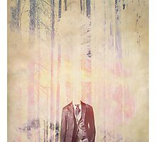 Headless man in the woods Photographic Print
