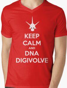 Keep Calm and DNA Digivolve V2 Mens V-Neck T-Shirt