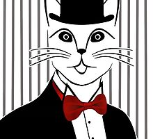 Fancy Cat with Bowler Hat and Tuxedo by ShoaffBallanger