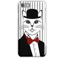 Fancy Cat with Bowler Hat and Tuxedo iPhone Case/Skin