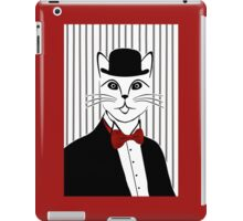 Fancy Cat with Bowler Hat and Tuxedo iPad Case/Skin
