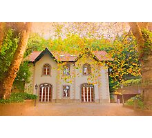 chalet in autumn Photographic Print