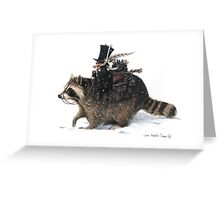 The Clurichaun and the Racoon Greeting Card