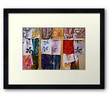Silk Scarves, Street Market Framed Print