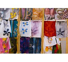 Silk Scarves, Street Market Photographic Print