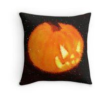 Angry Pumpkin Throw Pillow