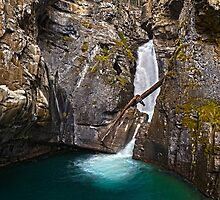 Johnston Canyon Waterfall by Rhea Hogberg