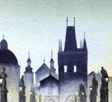 Romantic Evening - Charles Bridge Prague Sticker