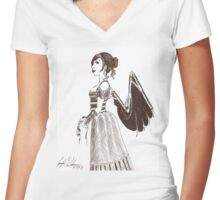 Clockwork Angel Women's Fitted V-Neck T-Shirt