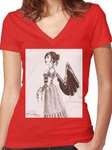 Clockwork Angel Women's Fitted V-Neck T-Shirt