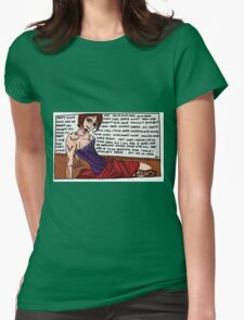 The Love of lines Womens Fitted T-Shirt