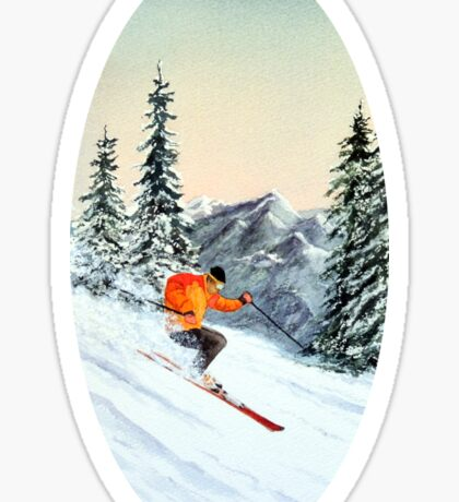 Skiing - The Clear Leader Sticker