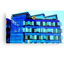 The New Bendigo Bank Building at Sunrise - Bendigo, Victoria Metal Print